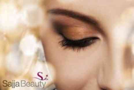 Sajja Beauty - Eyelash Extensions Plus Eyebrow Shape and Tint For One - Save 71%