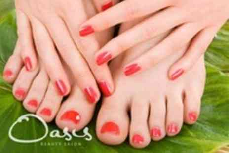 Oasis Beauty Salon - Pedicure and Luxury Manicure - Save 65%