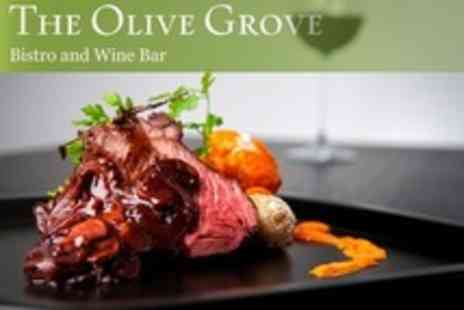 The Olive Grove - Venison and King Prawn Platter For Two With Wine - Save 51%