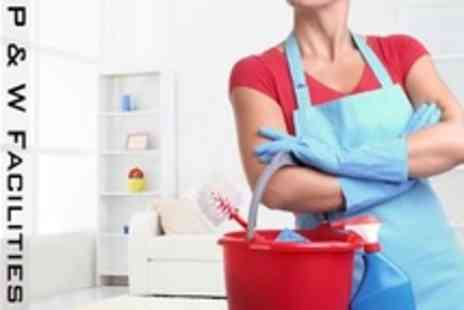 P and W Facilities - Two Hours Domestic Cleaning - Save 37%