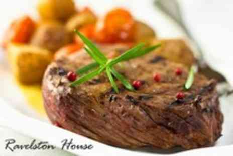 Ravelston House - Three Course Steak Meal For Two - Save 57%