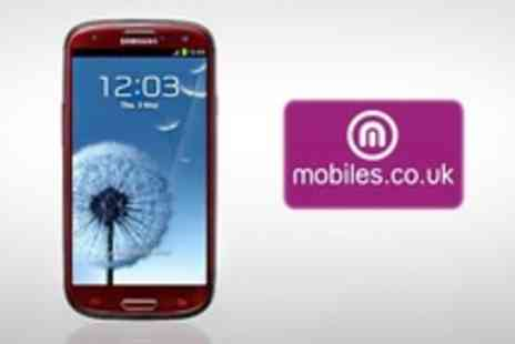 mobiles.co.uk - Red Samsung Galaxy S III - Save 33%