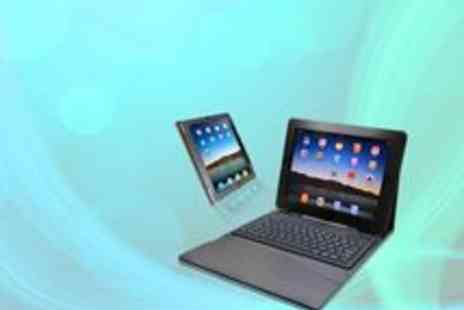 My Touch Screen - iPad Leather Effect Case with Built in Keyboard - Save 67%