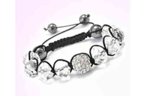 Antwerp Jewels - An incredibly attractive crisp looking Shamballa Bracelet - Save 99%