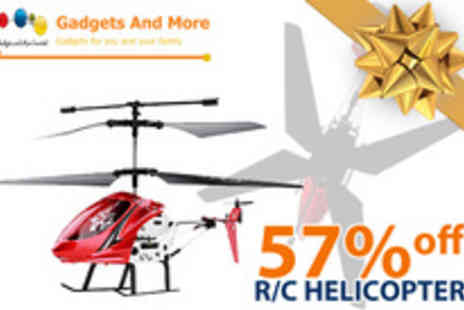 Gadgets and More - State of the art, twin rotor remote control helicopter that is suitable for all skill levels - Save 57%
