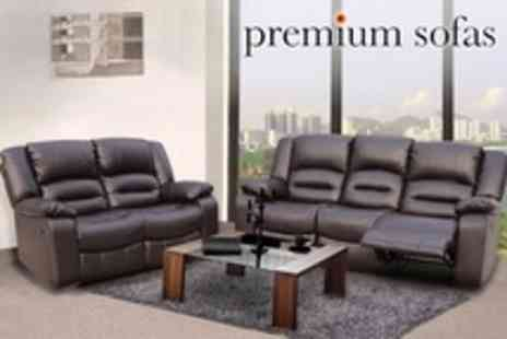 Premium Sofas - Kensington Reclining Leather Sofas - Save 62%