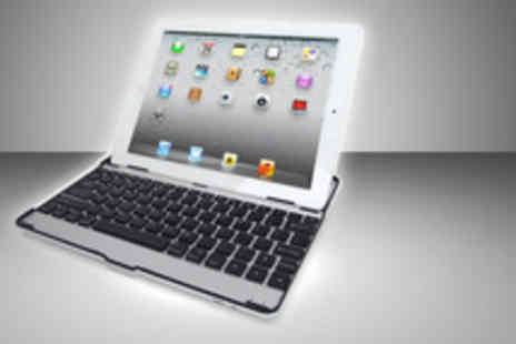 Blue Bud - An aluminium iPad case with integrated Bluetooth keyboard and touchscreen stylus pen - Save 76%