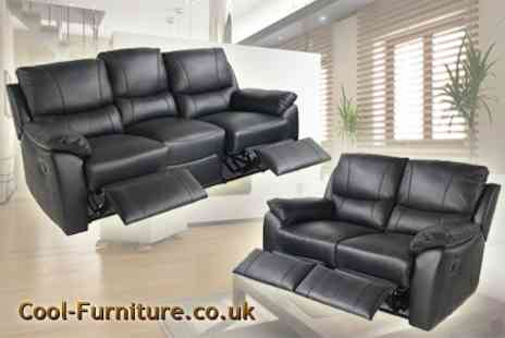 cool furniture.co.uk - Two Seater from the Cambridge Leather Recliner Sofa - Save 61%