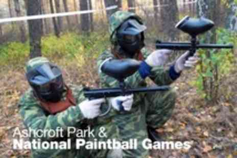 Ashcroft Park and National Paintball Games - Paintballing and Lunch - Save 80%