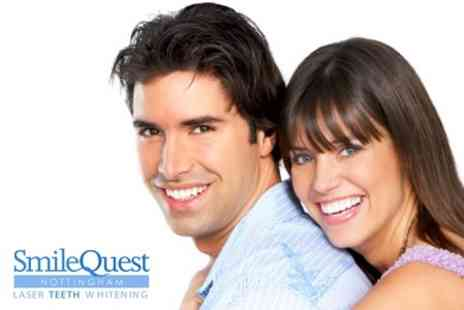 Smile Quest - Laser Teeth Whitening - Save 68%
