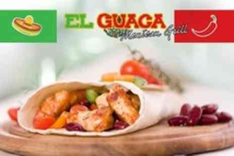 El Guaca Mexican Grill - Two Course Mexican Meal For Two - Save 53%