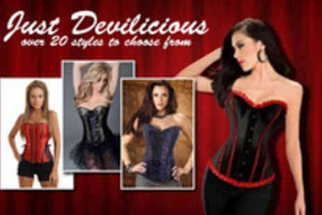 Just Devilicious - Corset in a choice of designs - Save 60%