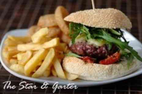 The Star & Garter - Two Course Pub Meal With Wine For Two - Save 62%