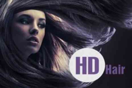 HD Hair - Restyle Cut and Finish With Conditioning Plus Half Highlights or Full Colour - Save 59%