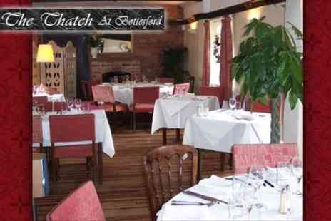 The Thatch - Two Course Meal for Two People for £25 at The Thatchin Bottesford - Save 64%