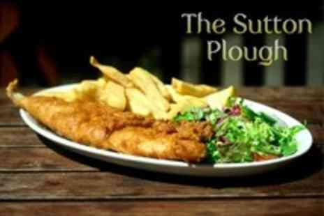 The Sutton Plough - Two Course Pub Meal Lunch For Two - Save 58%