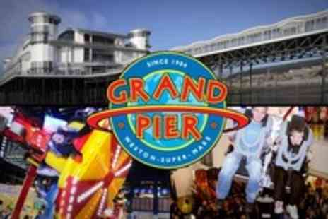 The Grand Pier - 65 Tokens For Rides and Attractions Including 4D Cinema and Go Karts - Save 55%