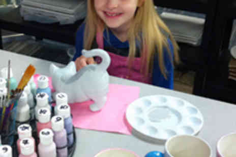 Cheshire Craft Workshop - Childs Pottery Painting Session with Refreshments - Save 52%