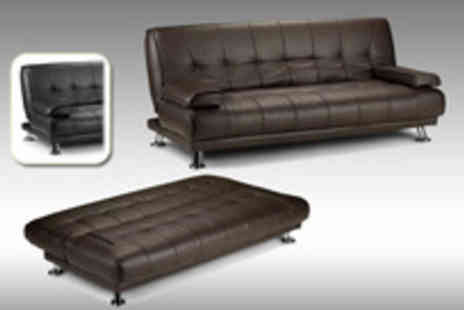 Express Living - Stylish Two Seater Faux Leather Sofa Bed Available in black or brown and can be easily reclined - Save 58%