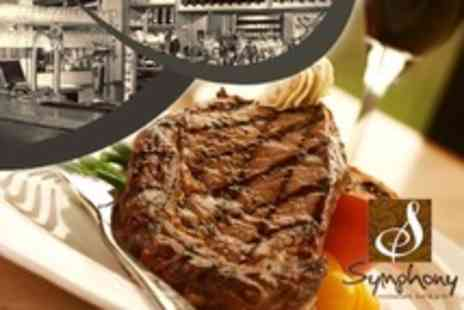 Symphony Restaurant - Two Courses of Bistro Fare For Two Plus Wine - Save 63%