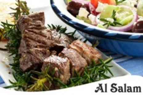 Al Salam - Three Course Lebanese Meal With Traditional Coffee and Dessert For Two - Save 56%