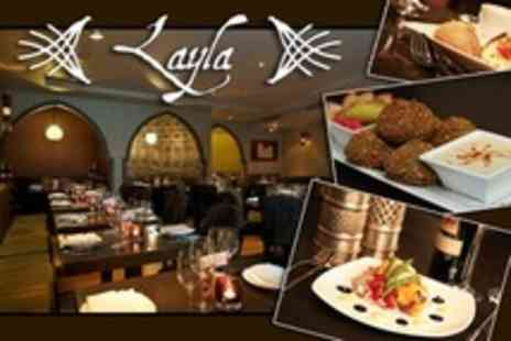 Layla Restaurant - Three Courses of Middle Eastern Fare For Two - Save 57%