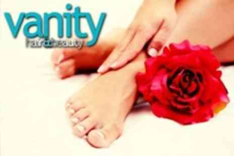 Vanity Hair and Beauty - 90 Minute Manicure and Pedicure With 30 Minute Massage - Save 17%