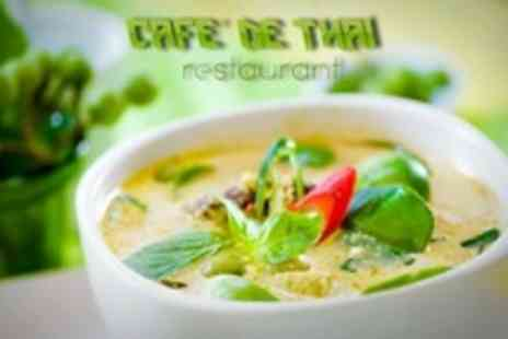 Cafe de Thai - Four Courses of Thai Cuisine For Two - Save 70%