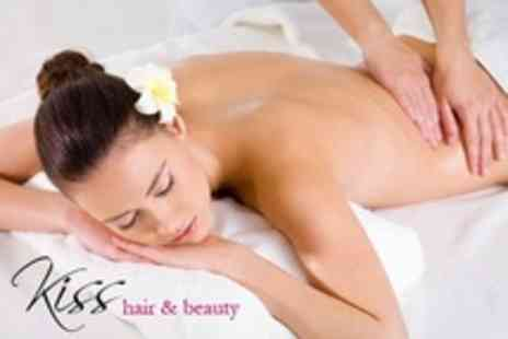 Kiss Hair and Beauty - One Hour Massage with Thai, Full Body, or Back, Neck and Shoulder - Save 68%