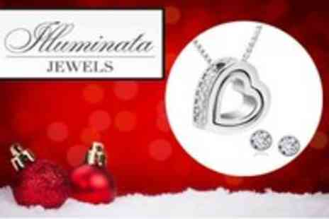 Lifestyle Retail products - Heart of Hearts Swarovski Element Crystal Pendant and Earring Set - Save 83%