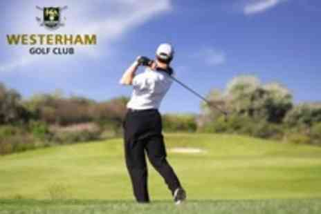 Westerham Golf Club - Day of Golf For Two With 40 Range Balls Each - Save 79%