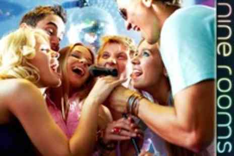 Nine Rooms Karaoke - Two Hour Karaoke Party For Six With Drinks - Save 65%