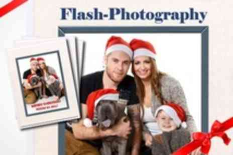 Flash Photography - Festive Family Photoshoot With Eight Christmas Cards - Save 91%