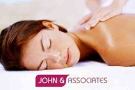 John and Associates - Beauty Choice of Two Treatments Such as Massage or Jessica Manicure - Save 63%