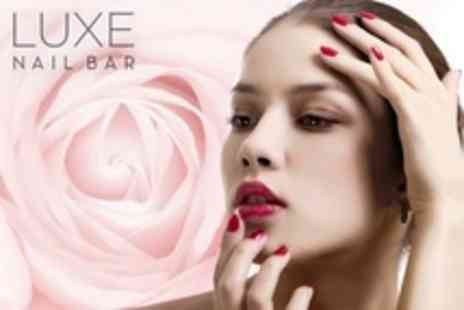 Luxe Nail Bar - Acrylic or Gel Nails For Hands Plus Mini Pedicure - Save 50%
