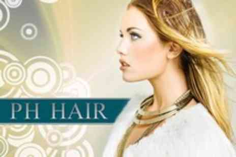PH Hair - Full Head of Colour or T Section Highlights With Cut Blow Dry and Conditioning Treatment  Plus Follow Up Cut - Save 60%