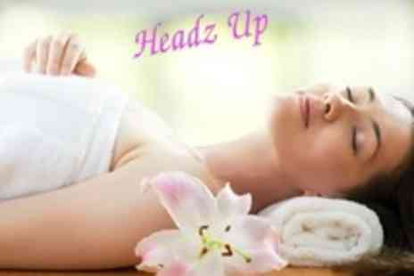 Headz Up Hair and Beauty - Hot Stone Massage Plus Choice of Facial - Save 65%