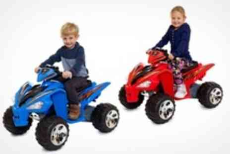 Playtimes - Battery Powered Childrens Ride On Quad Bike - Save 57%