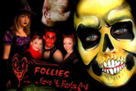 Follies Facepainting - Halloween Special Effects and Professional Face painting Courses in Greenwich - Save 50%