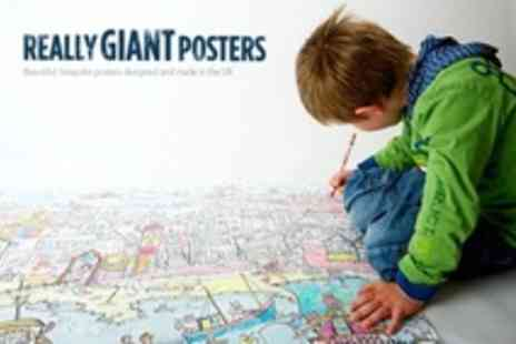 Really Giant Posters - Giant Colouring in Posters Medieval Castle Fairy House - Save 67%