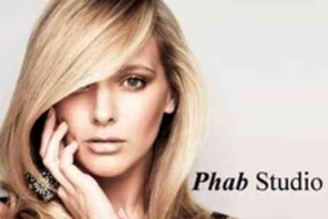 Phab Studio - Full Head Colour With Cut and Blow Dry By Senior Stylist - Save 69%