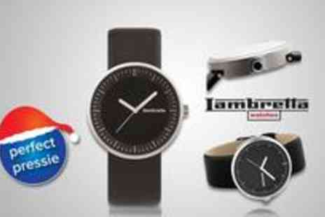 Brand Arena - Unisex Lambretta Franco watch in black from a contemporary timepiece and the perfect accessory - Save 50%
