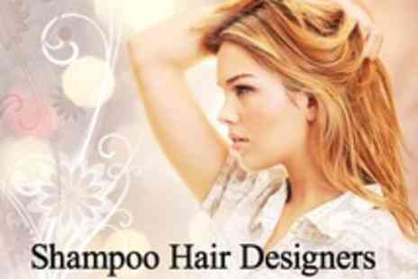 Shampoo Hair Designers - Half Head Highlights or Full Head Colour With Cut, Condition and Blow Dry - Save 70%