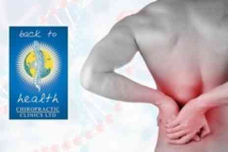 Back to Health Chiropractic - Postural Consultation With Back Scan, Two Treatments and Spinal Care - Save 84%