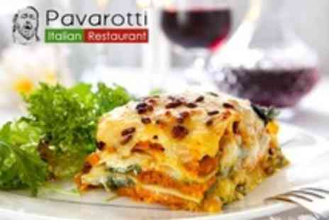 Pavarotti Italian Restaurant - Main Course and Dessert For Two - Save 53%