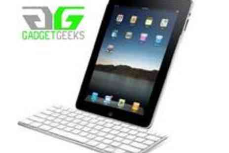 Gadget Geeks - Silver Bluetooth Keyboard for iPad or iPhone - Save 50%