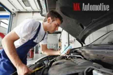 MK Automotive - MOT and 54 Point Service With Oil and Filter Change and Hand Wash - Save 71%