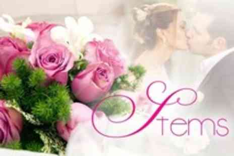 Stems - Wedding Flower Package with Bridal Bouquet, Top Table Arrangement, and Grooms Corsage - Save 64%
