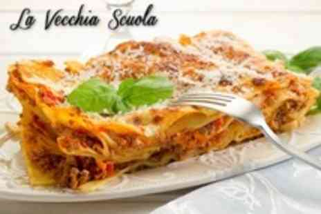 La Vecchia Scuola - Two Course Italian Christmas Party Lunch For Two - Save 33%