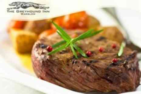 The Greyhound Inn - Country Pub Steak Meal For Two With Coffee Each - Save 61%
